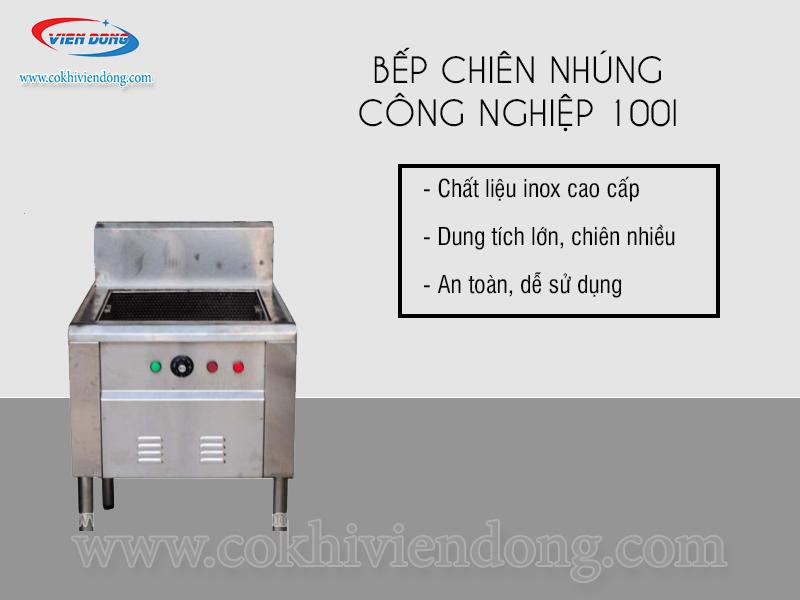 bếp chiên nhúng công nghiệp 100L