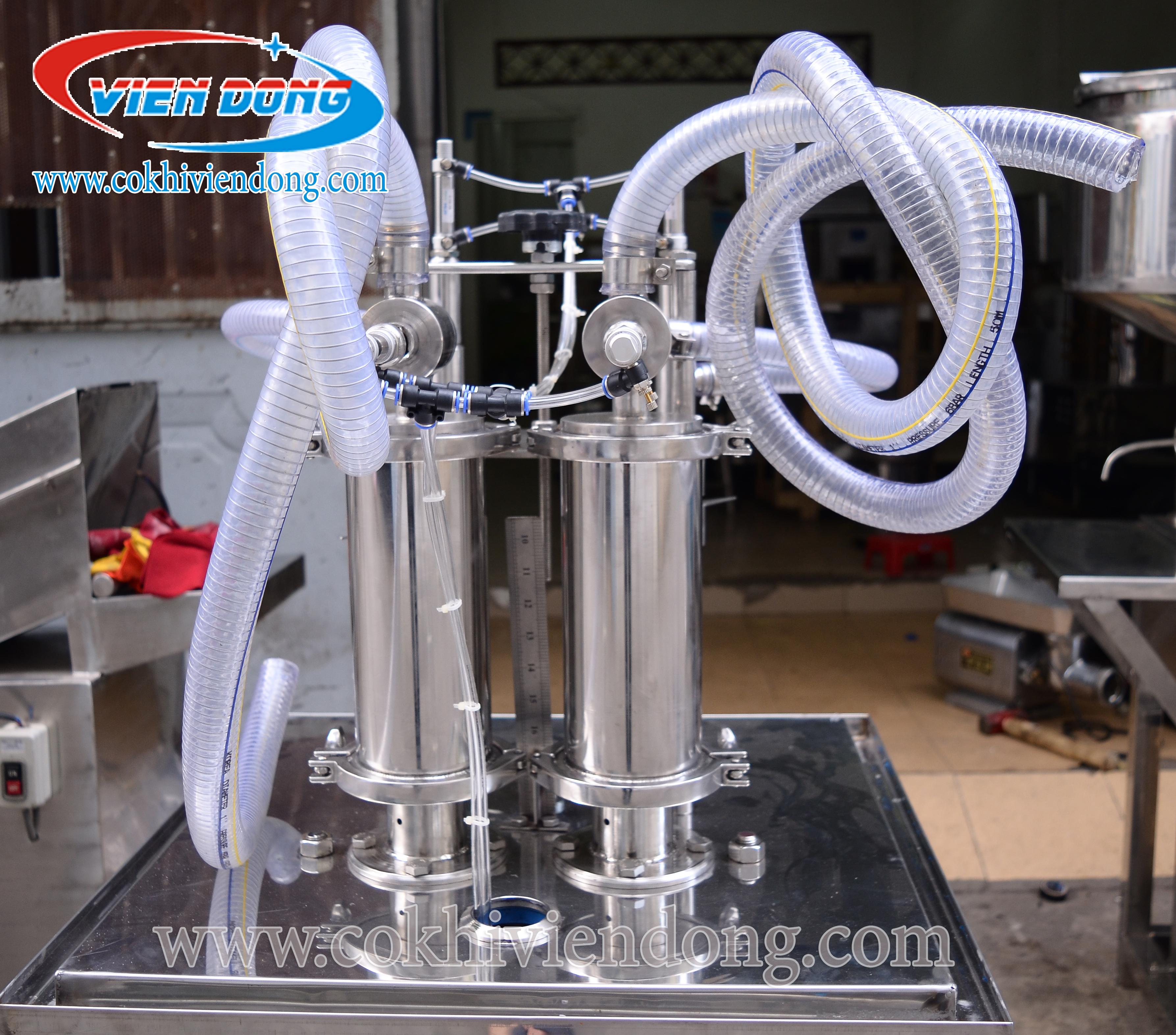 máy chiết rót định lượng 2 vòi