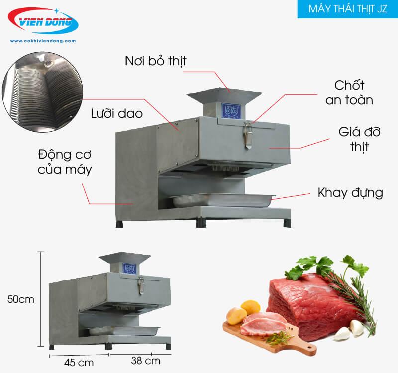 Máy thái thịt bò JZ