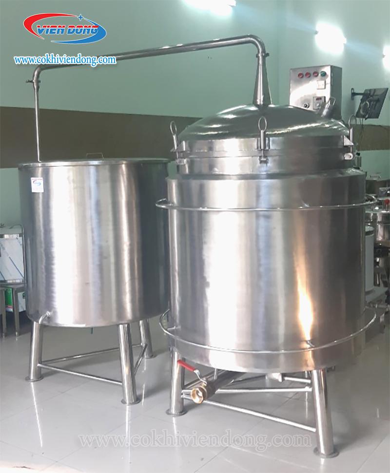 Nồi nấu rượu 50kg/ mẻ