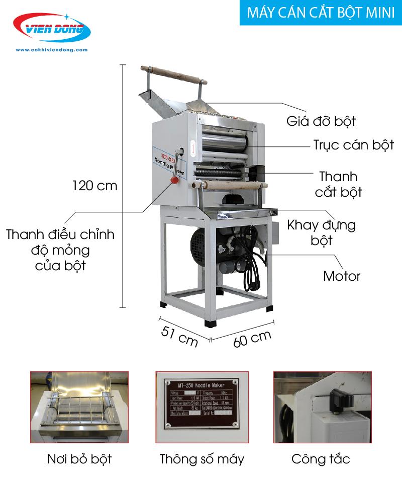 Máy cán bột MT-250-01
