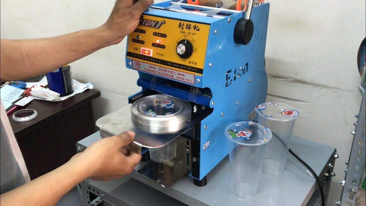 Máy ép miệng cốc , máy dập cốc, máy ép cốc nhựa hải phòng | 0913040613 | đồ cũ hoàng quỳnh | docuhaiphong.vn