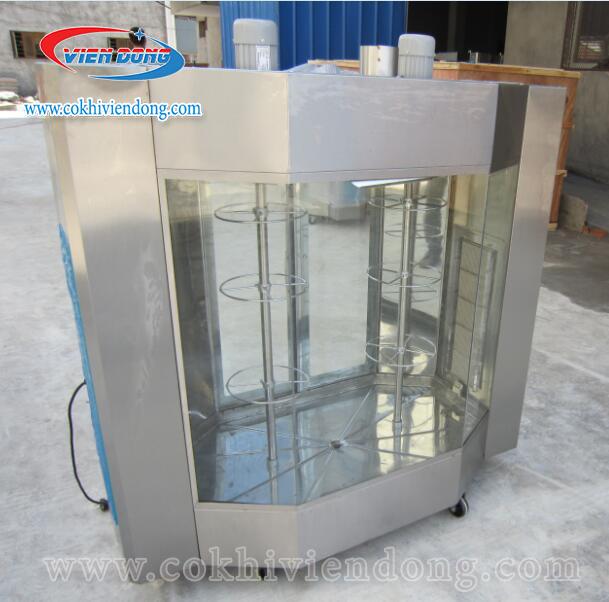 Lò quay vịt có kính dùng điện và gas YXD- 24
