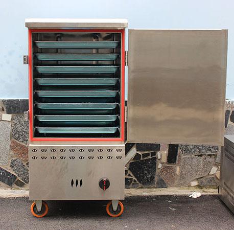 Tủ hấp công nghiệp bằng Gas 8 khay