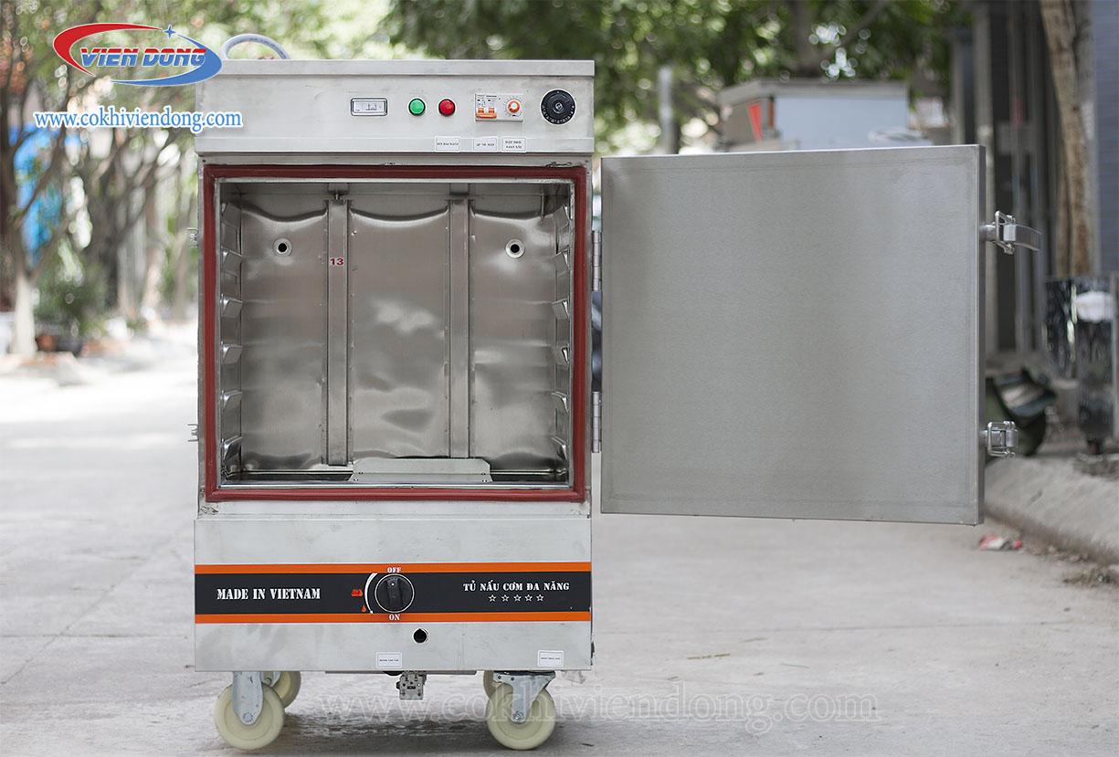 tủ hấp công nghiệp điện & gas 6 khay