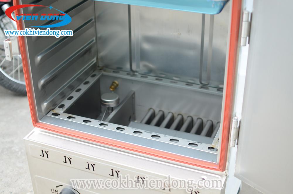 tủ hấp cơm công nghiệp bằng Gas