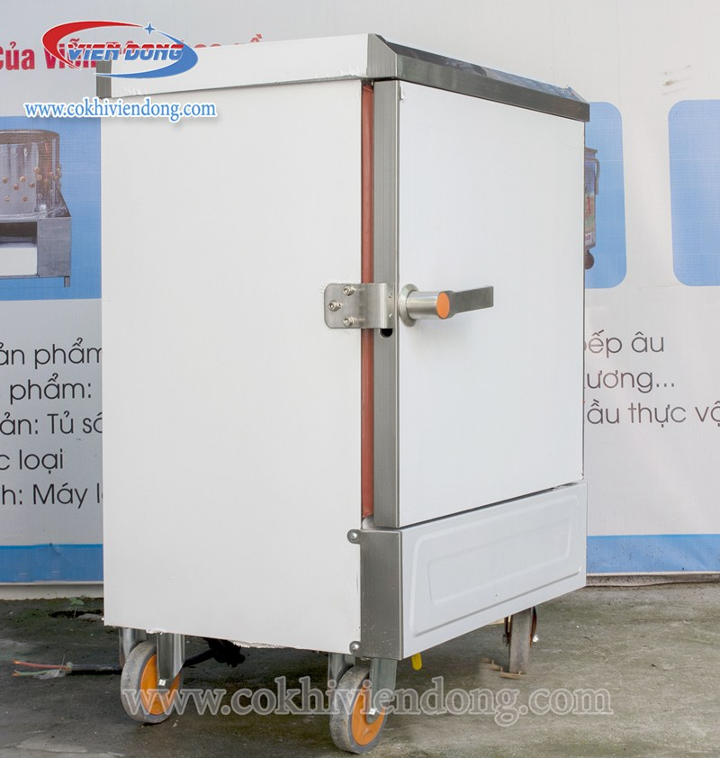 tủ hấp công nghiệp 6 khay dùng điện