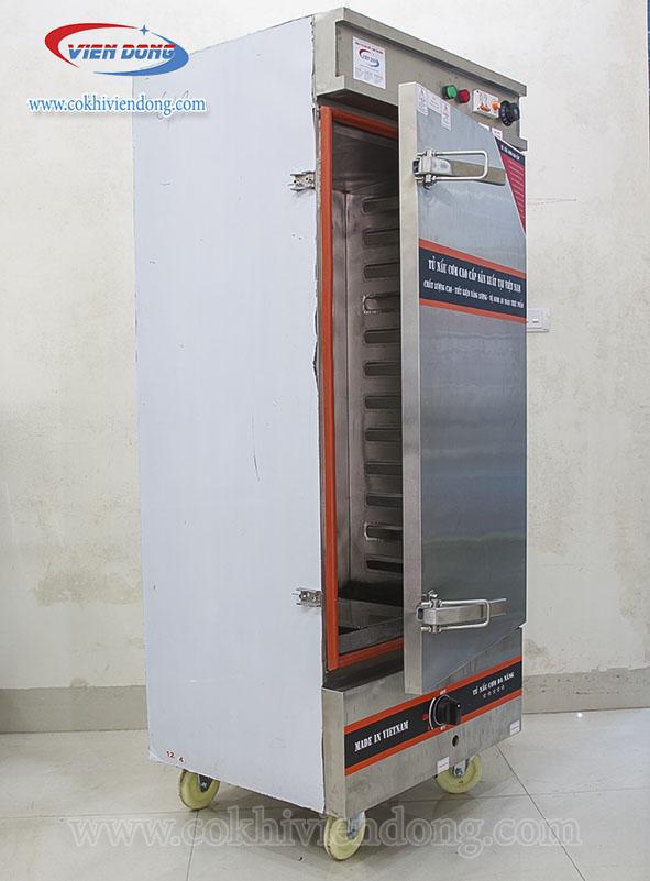 tủ hấp công nghiệp 12 khay điện & Gas