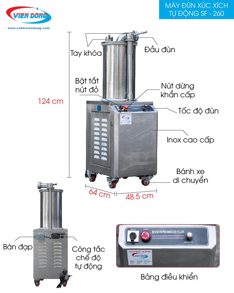 Máy đùn xúc xích tự động SF-150-01