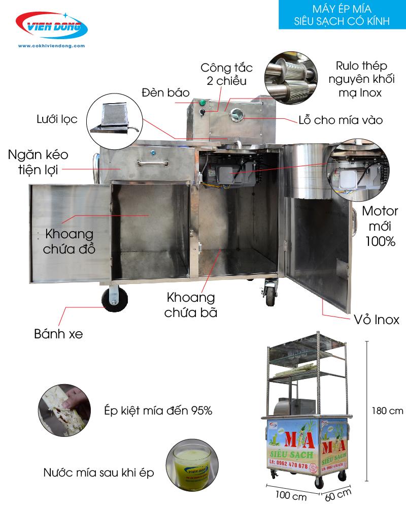 chi tiết máy ép nước mía có kính-01