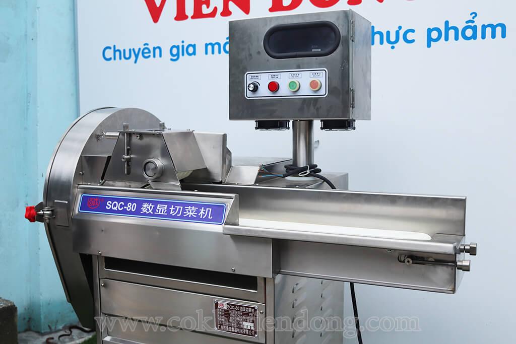 máy cắt rau củ băng tải SQC- 80