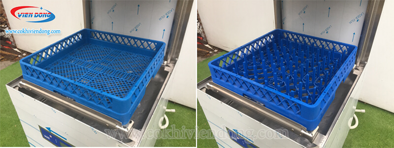 Giá đựng chén, bát, ly, thìa máy rửa bát cho nhà hàng Ozti OBM 1080
