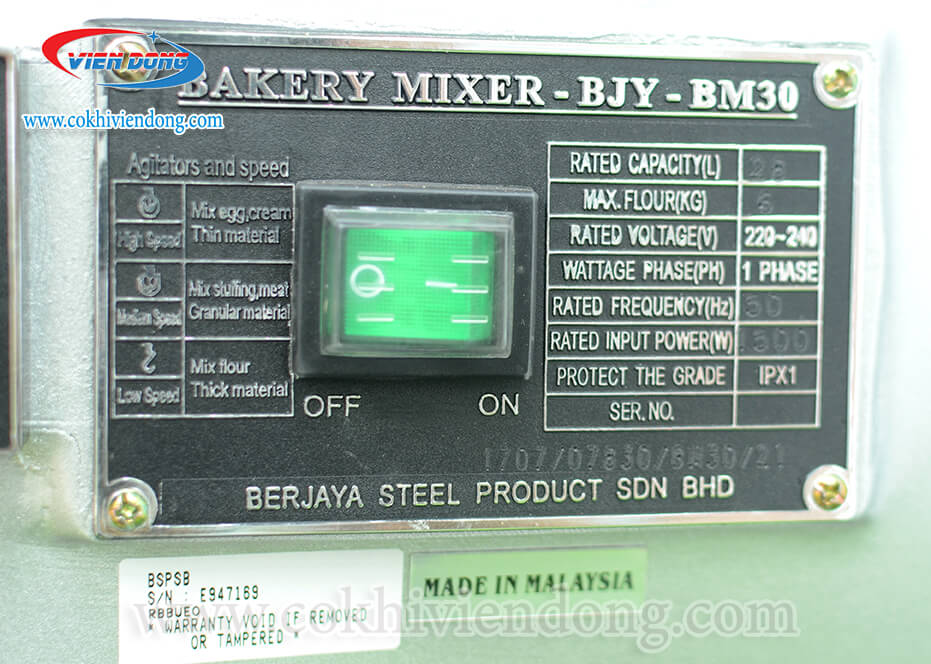 Máy trộn bột đánh trứng BJY - BM30