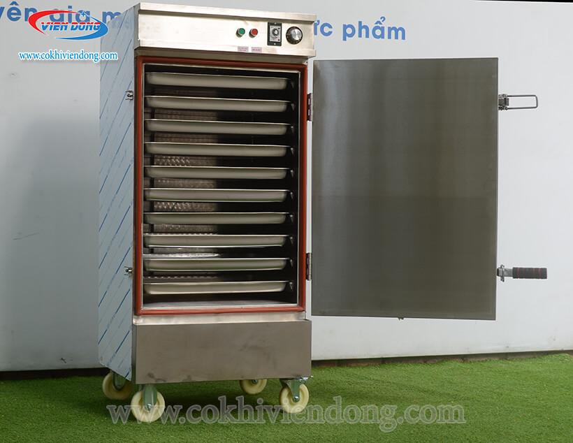tủ hấp công nghiệp bằng Gas 10 khay