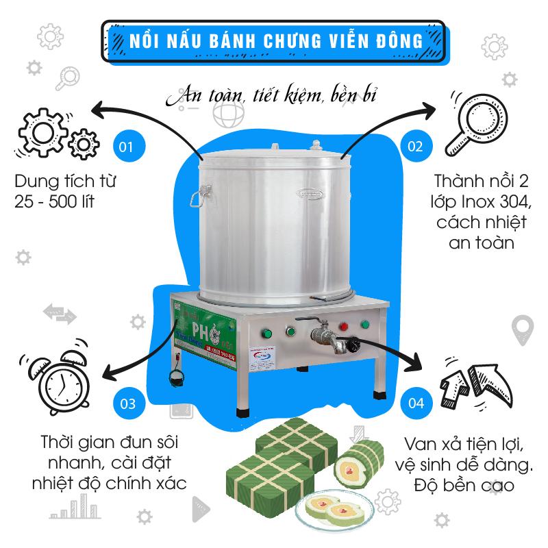Nồi nấu bánh chưng Viễn Đông- An toàn, tiết kiệm, bền bỉ-01