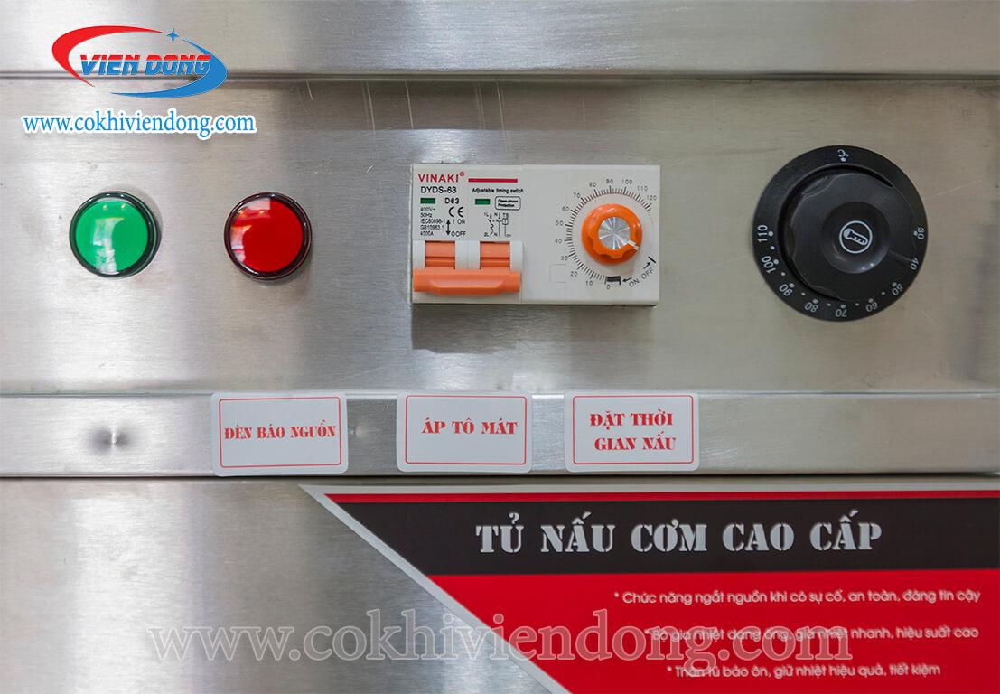 bảng điều khiển tủ hấp bánh bao