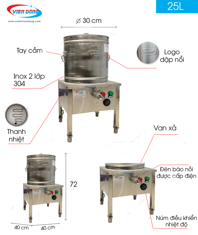 Thanh nhiệt nồi nấu phở điện – Linh kiện quan trọng trong nồi nấu phở Máy chế biến thực phẩm – Cơ Khí Viễn Đông