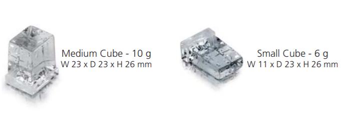 kích cỡ đá viên mv1006AS