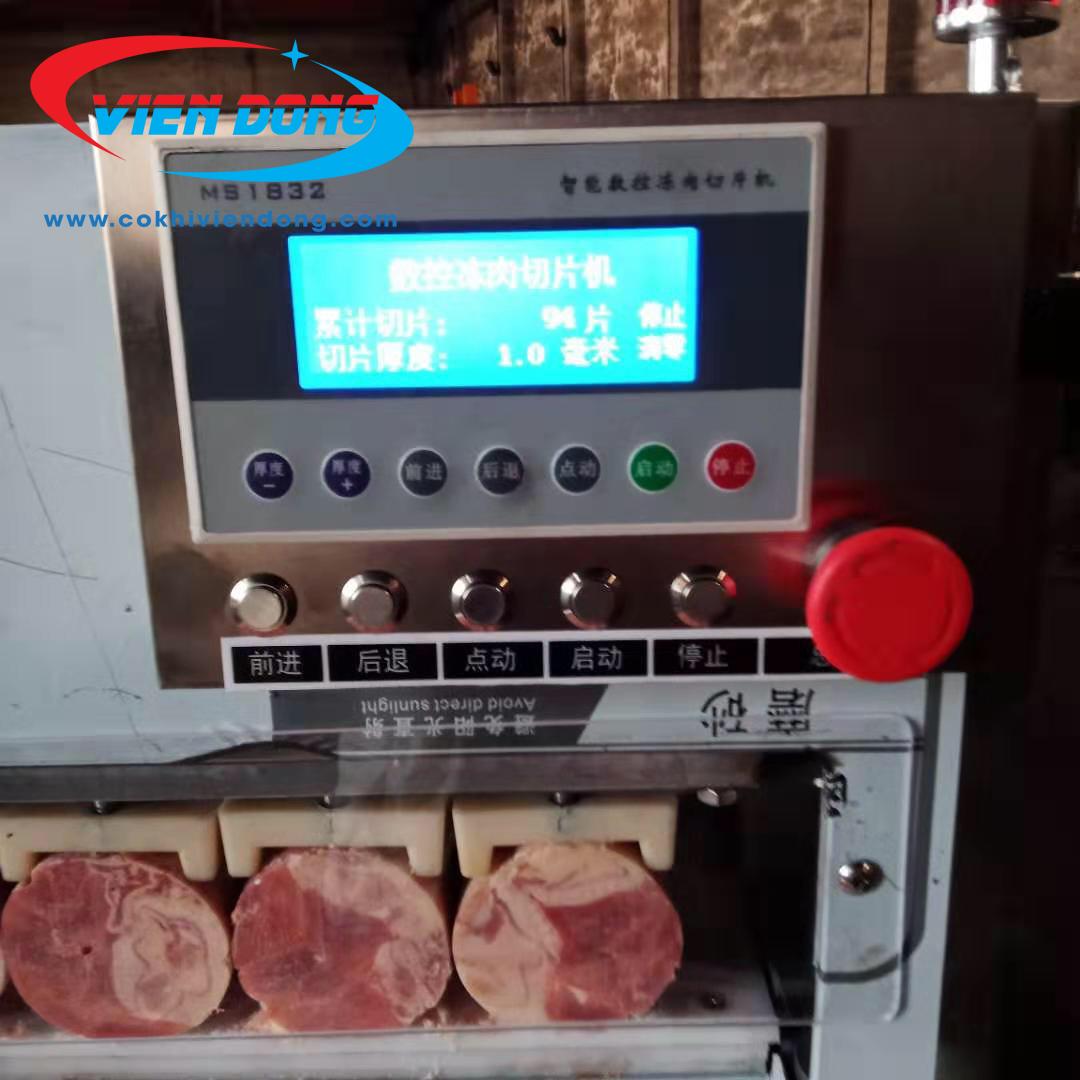 máy thái thịt đông lạnh QP