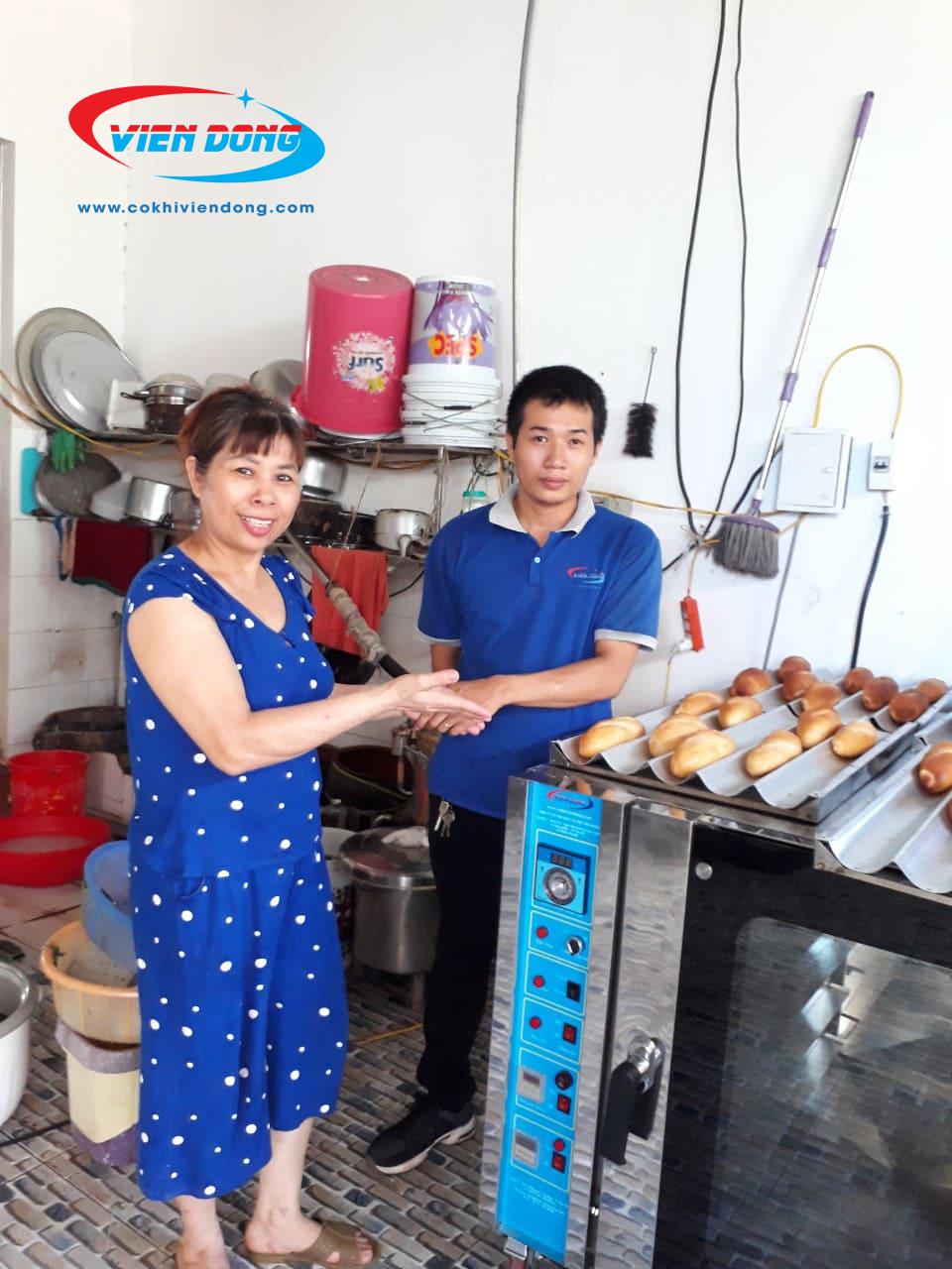 lò nướng bánh mì đối lưu Việt Nam 5 khay