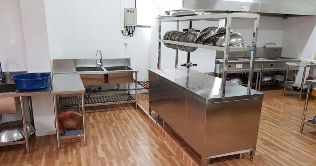 Sơ đồ thiết kế bếp một chiều trong trường mầm non