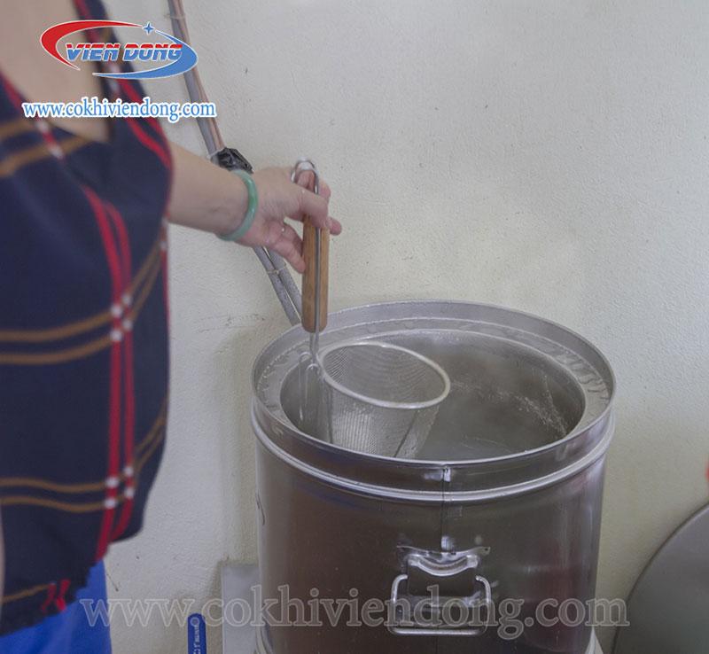 Nồi nấu phở tủ điện chiết áp
