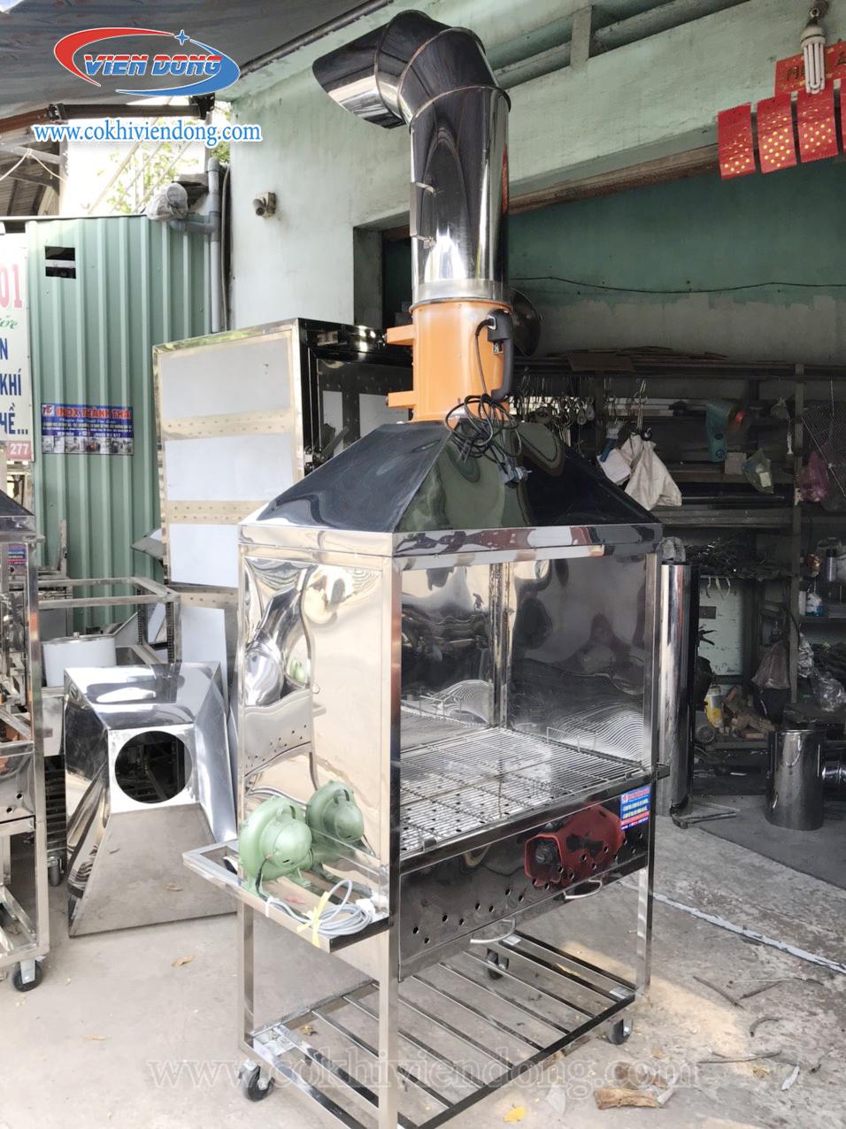 Lò quay vịt dùng than có quạt hút