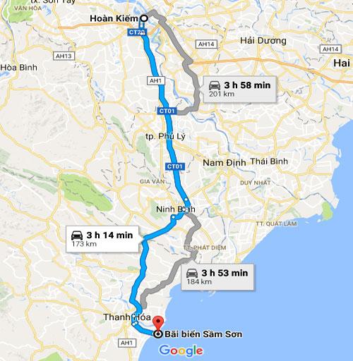 đường đi FLC Sầm Sơn