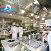 2 mẫu thiết kế 3D bếp nhà hàng đẹp nhất hiện nay