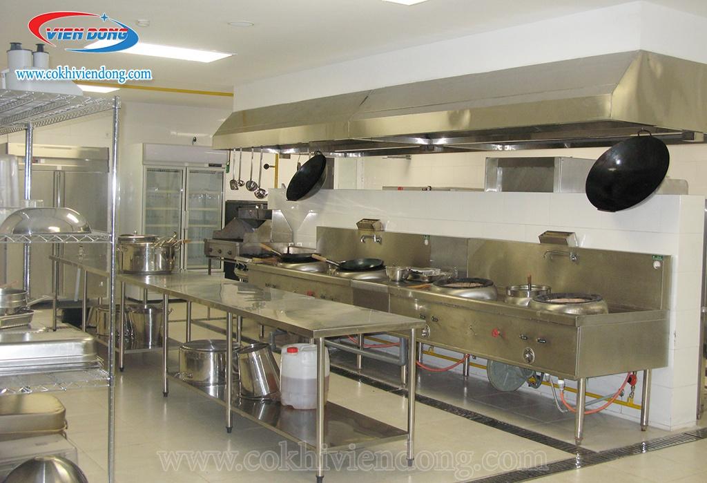 bếp á quạt thổi - thiết kế bếp công nghiệp
