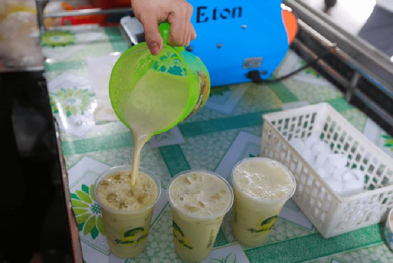 Nước mía và máy ép ly Eton