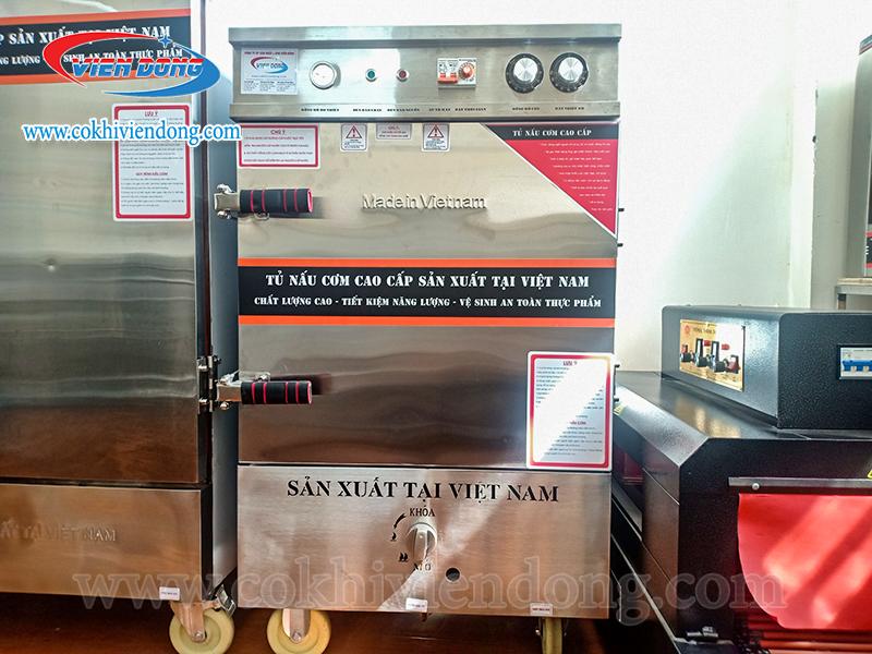 Tủ nấu cơm công nghiệp 6 khay bằng Gas Việt Nam