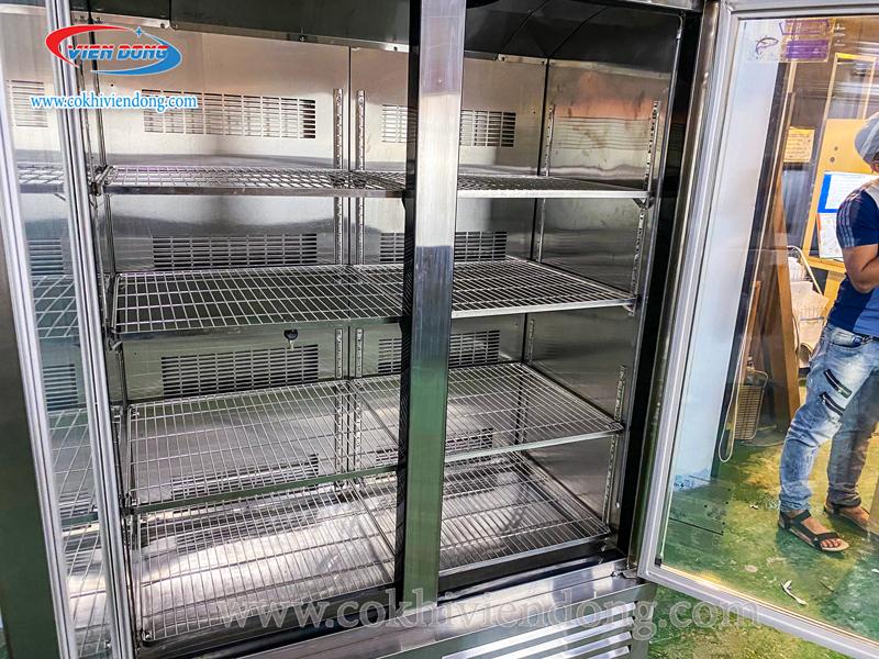 Tủ lạnh đứng 2 cánh kính