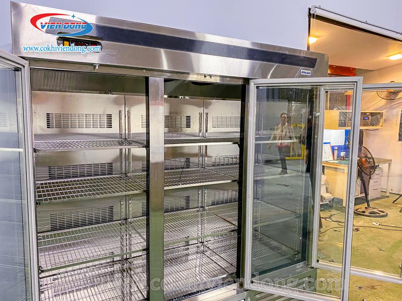 Tủ lạnh nhà hàng 3 cánh kính